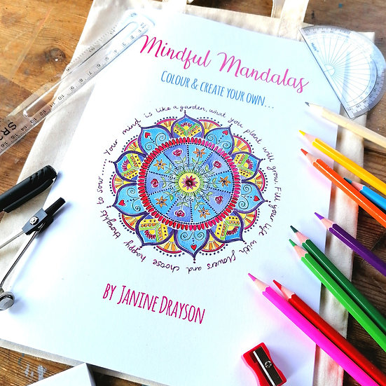 Colour & Create Mandala Book (Kit included)