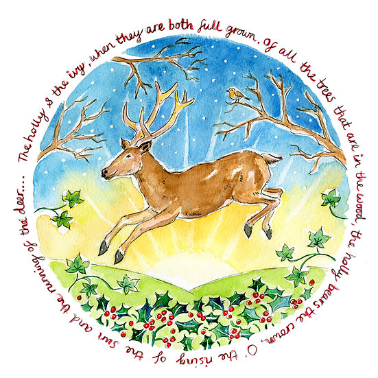 'The Running of the Deer' card
