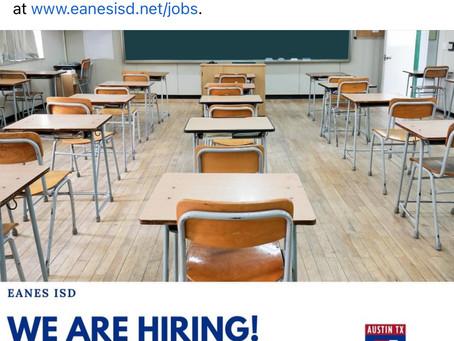 Eanes ISD is Hiring Teachers