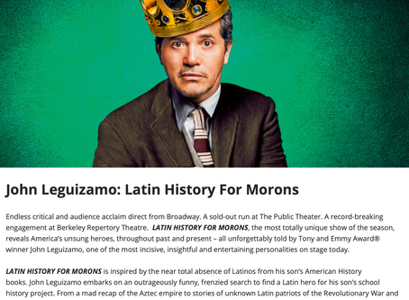 John Leguizamo: Latin History for Morons.  Wednesday December 4, Bass Concert Hall 8PM