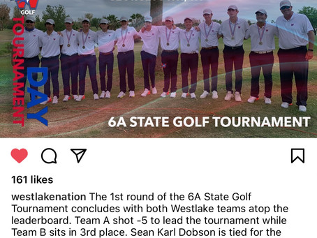 Chap Golf Leading in State Tourney
