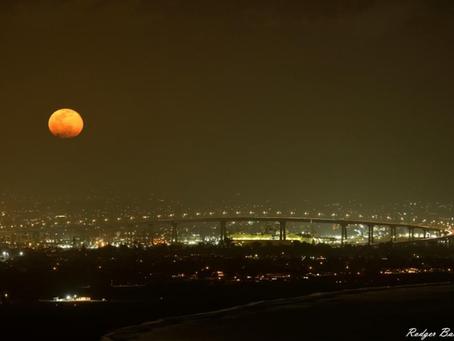 Snow Moon Over Coronado Bridge