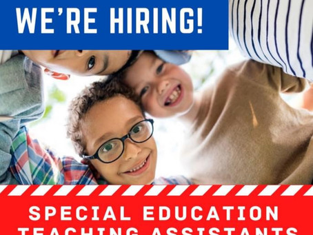 Eanes is Hiring-Special Ed Teaching Assistants