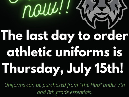Westridge-Order Athletic Uniforms by This Thursday