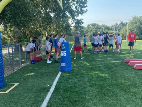 West Ridge Middle School Football Campers