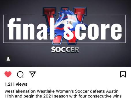 Chap Women's Soccer 2-1 Over Austin High
