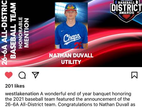 Chap Baseball District Awards