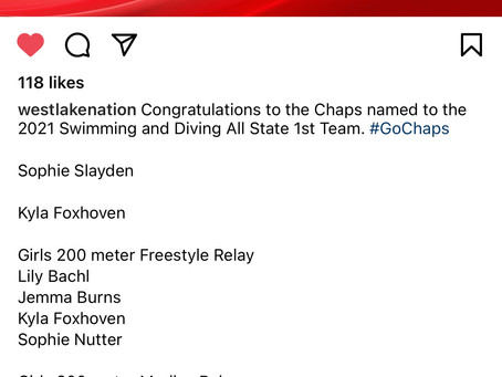 Chaps Swimming & Diving All State Awards