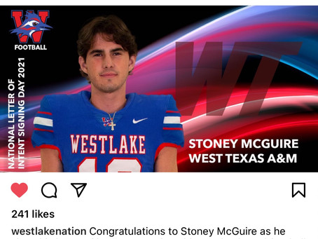 Stoney McGuire-Commits to West Texas A&M