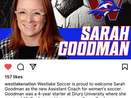 Welcome Sarah Goodman New Assistant Coach for Women's Soccer at Westlake High