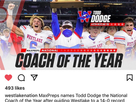 Chaps' Todd Dodge Nat'l Coach of the Year