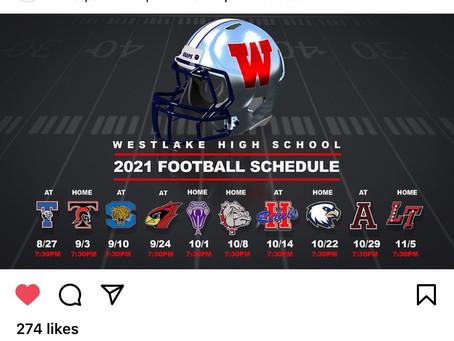 Westlake FB Schedule