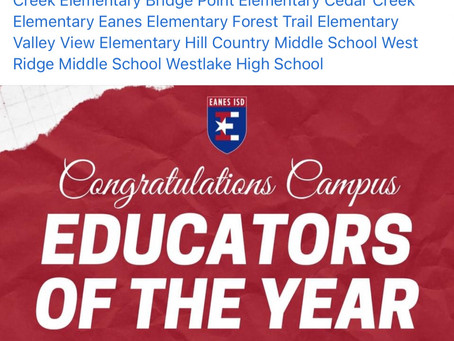 Eanes Educators of the Year
