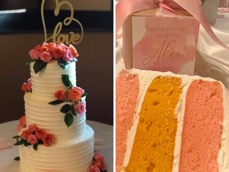 Lemon Cake for a Bridal Shower