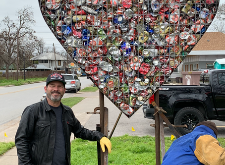 Bale Creek Allen Installs Valentine on East First Street.  https://www.balecreekallengallery.com