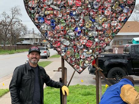 Bale Creek Allen Installs Valentine on East First Street.  https://www.balecreekallengallery.com