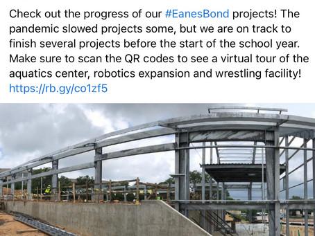 Eanes-ISD Aquatics, Wrestling & Robotics Facility Progresses
