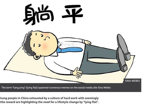 """""""Tang Ping"""" AKA Lying Flat. Young Chinese Don't See the Benefits Of Hard Work & Family"""