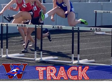 Elizabeth McCall-1st in 100 Meter Hurdles