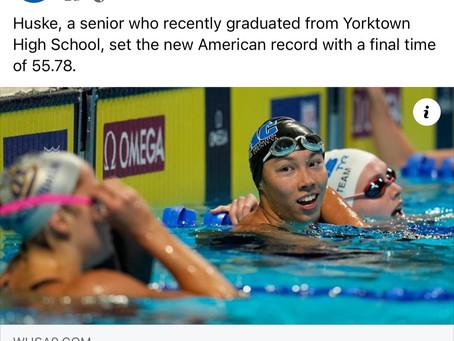 Torri Huske Set New American Record 100 Fly