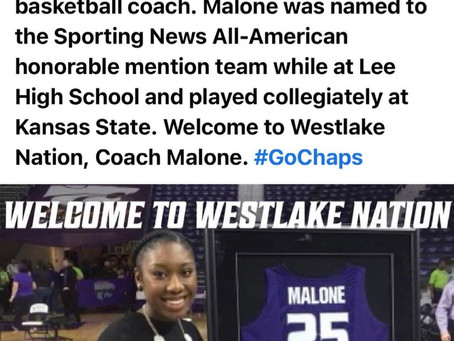 Stacey Malone-New Asst. Women's BBALL Coach at Westlake
