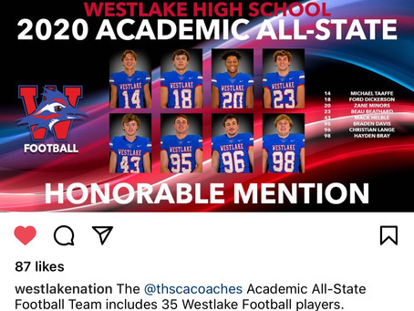 Chap Academic All-State Football