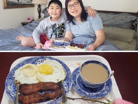 Breakfast in Bed by Nathan for Mom