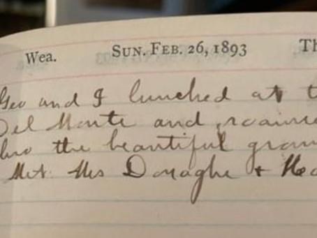 Journal Entry Sunday February 26, 1893