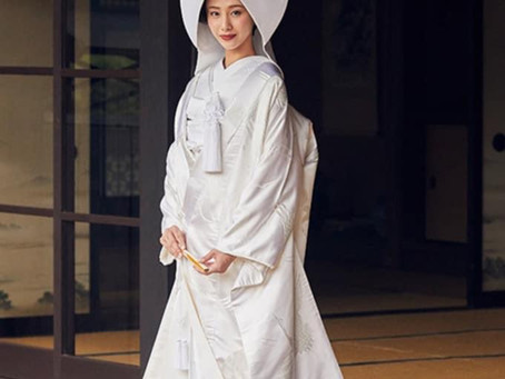 Traditional Japanese Bridal Gown or Shiromuku