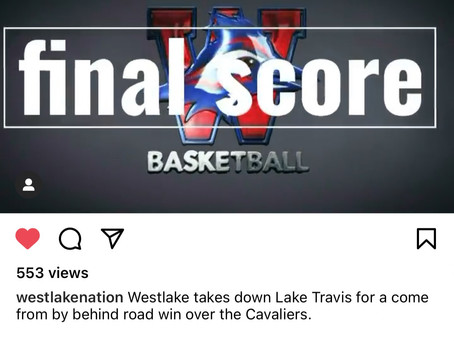 Chap BBALL Over Lake Travis by 7