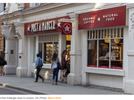 Pret A Manger Croissant Index-Northern England & London Suburbs Lead Pandemic Recovery