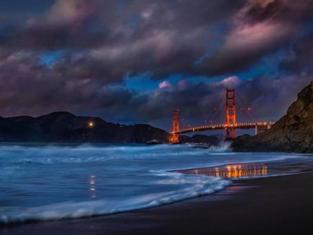 Golden Gate Twilight View from Baker Beach