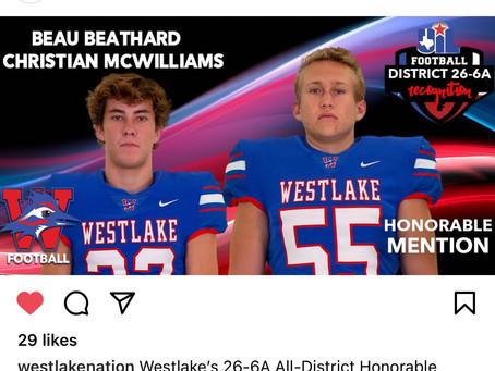 Beau Beathard, Christian McWilliams Honors