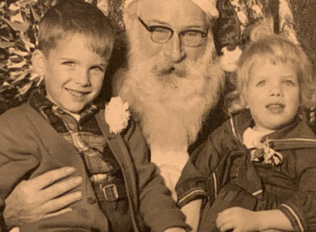 Christmas with Santa-1958 Edie and Markie