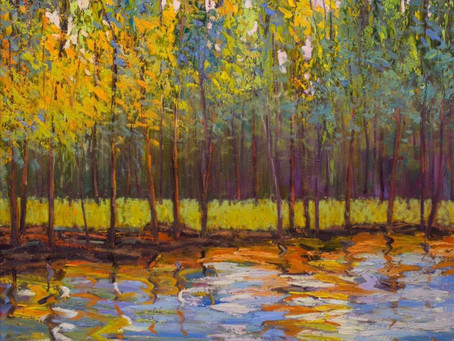 Colorful Forest Oil Painting