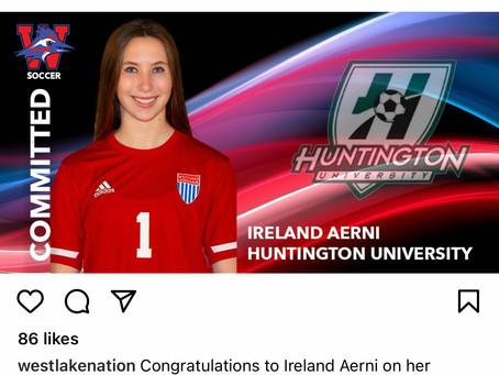 LadyChap Soccer-Ireland Aerni to Huntington