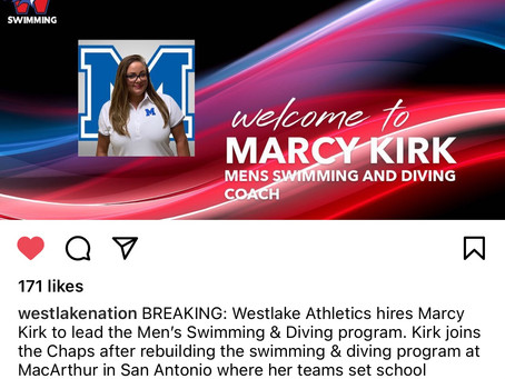 Chaps Welcome Marcy Kirk To Westlake     New Men's Swimming & Diving Coach