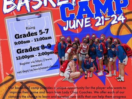 Lady Chaps Basketball Camp June 21-24