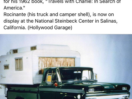 """Steinbeck-Rocinante GMC W/Camper Used for """"Travels with Charlie"""""""