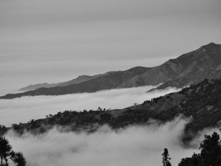 Big Sur Foggy Sunday in B/W
