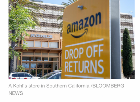 Unwanted Holiday Gifts-WSJ Reports $95B in Returns.  Bricks-and-Mortar Shops to Benefit?