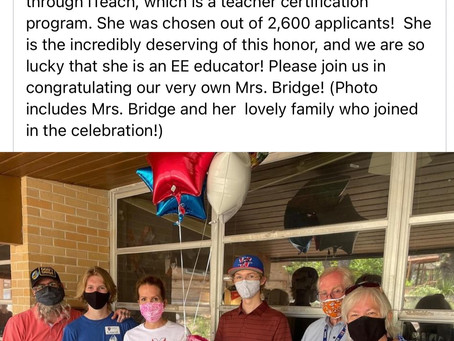 iTeach Anje Bridge-Teacher of the Year