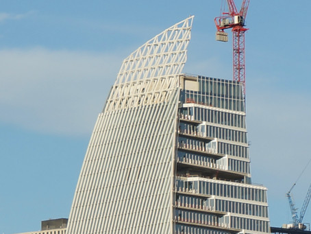 Sunday Drive-Another View of the Sailboat Google Building Coming Up on Block 185