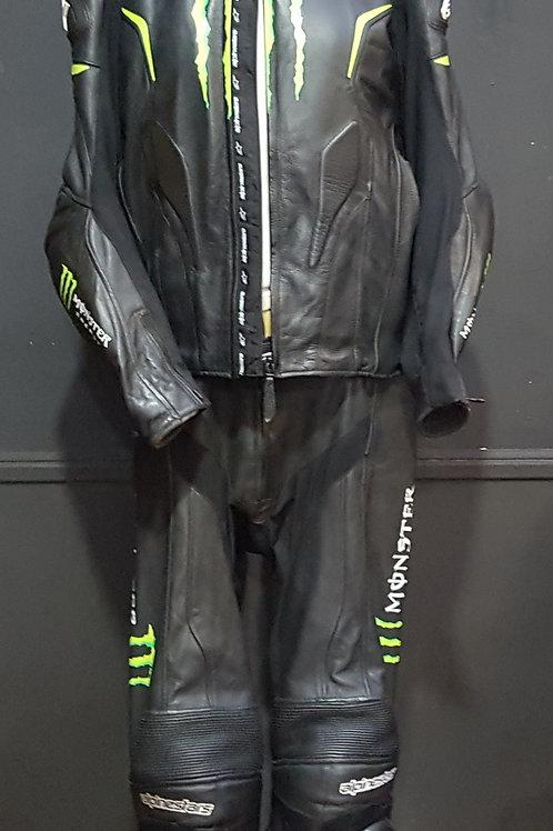 Conjunto negro de moto alpinestars monster,talla 56