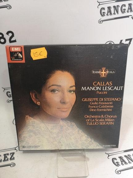 CINTA CASETE CALLAS MANON LESCAUT