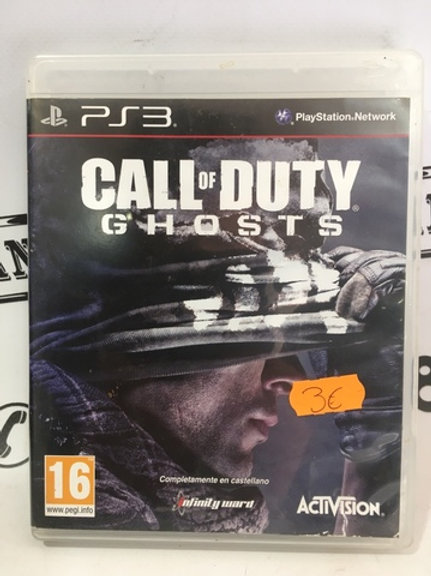 JUEGO CALL OF DUTY GHOSTS PS3