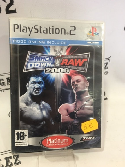 SMACK DOWN VS RAW 2006 PS2