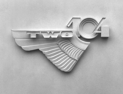 «Two-104» paper sculpture logo