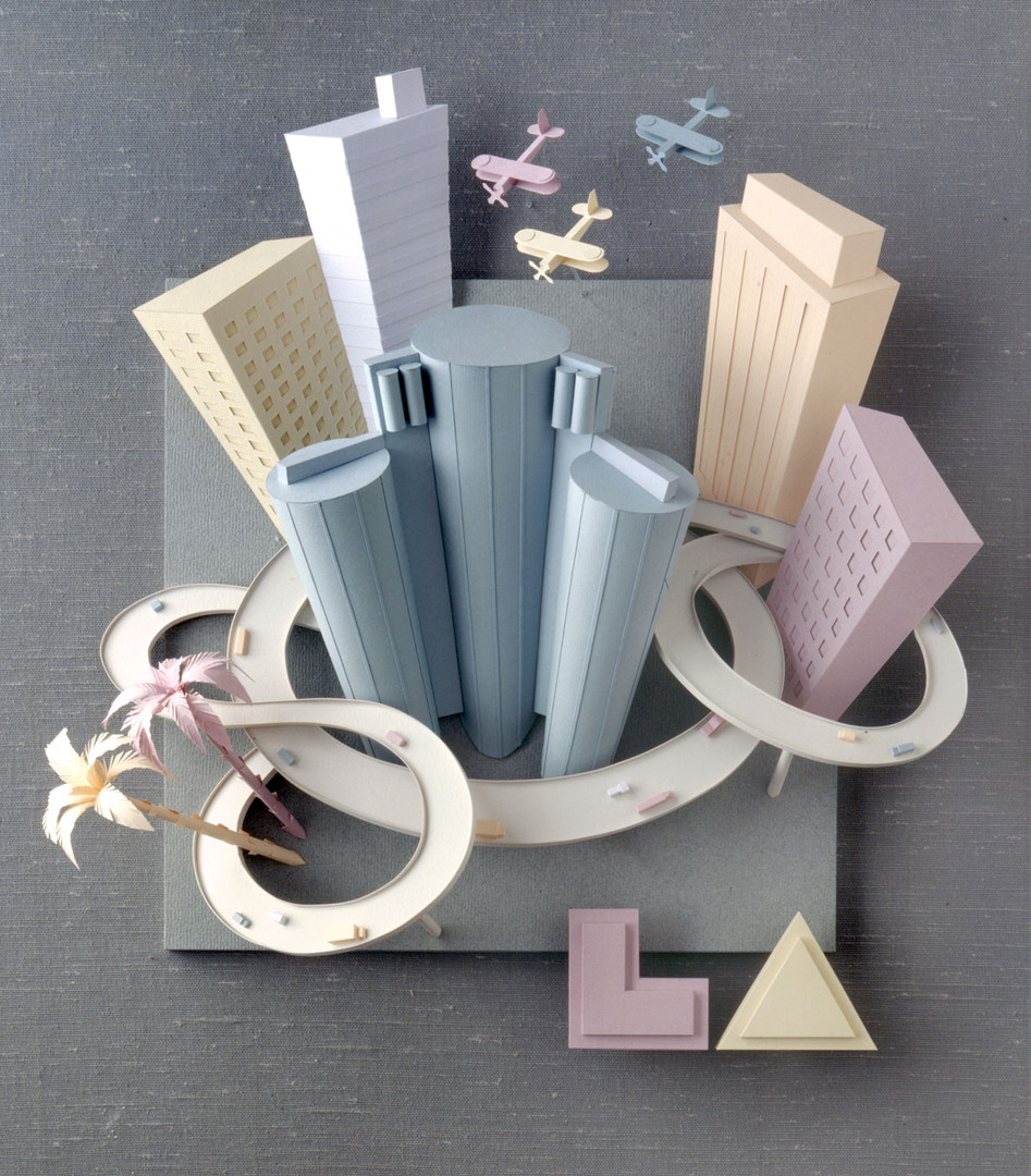 «Los Angeles» paper sculpture