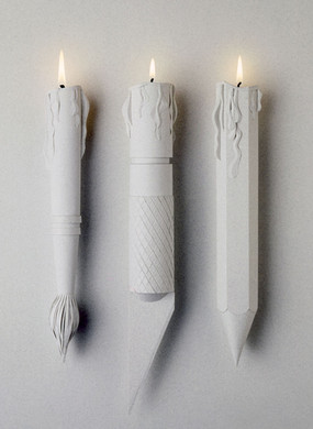 «Burning Tools» paper sculpture